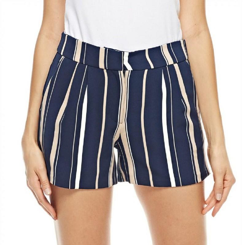 Shorts Vestir Rayas Vero Moda Navy Blazer